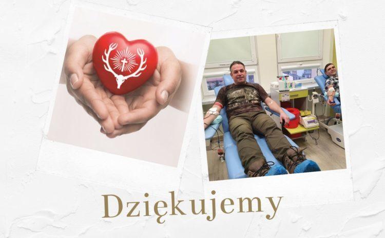 Myśliwi oddali 124 litry krwi dla potrzebujących